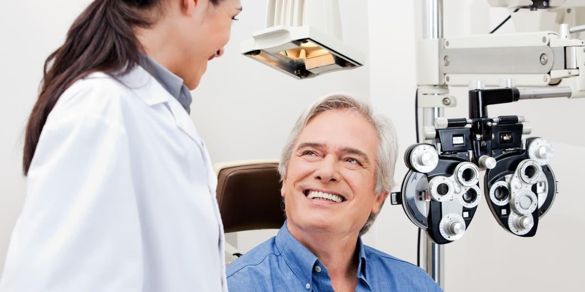 Man at Eye Exam
